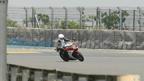 Spied: Honda CBR650 F at the Buddh International Circuit