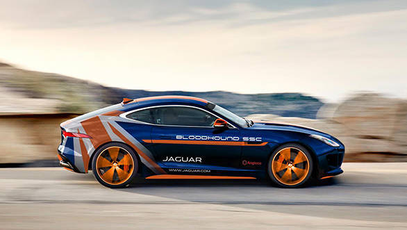 Jaguar F-Type Bloodhound vehicle