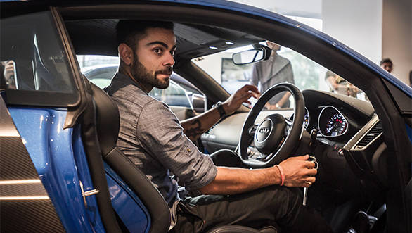 Joe King, Head Audi India delivers the limited edition Audi R8 LMX to Ace Cricketer virat Kohli 4