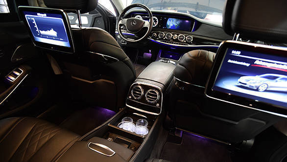 Despite all the armouring, the interiors are just as plush and luxurious as  a normal S-Class