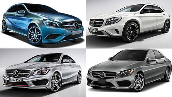 Mercedes car Collage