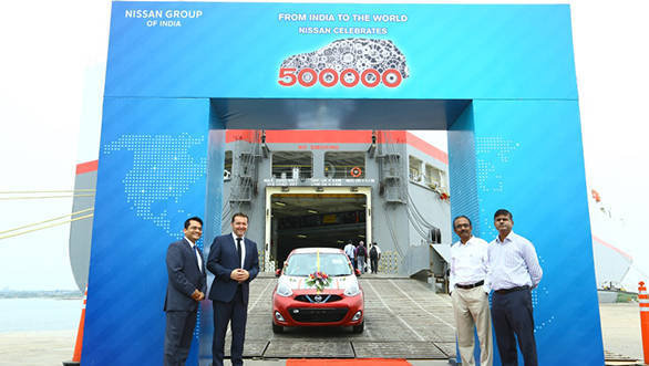 Nissan India exports