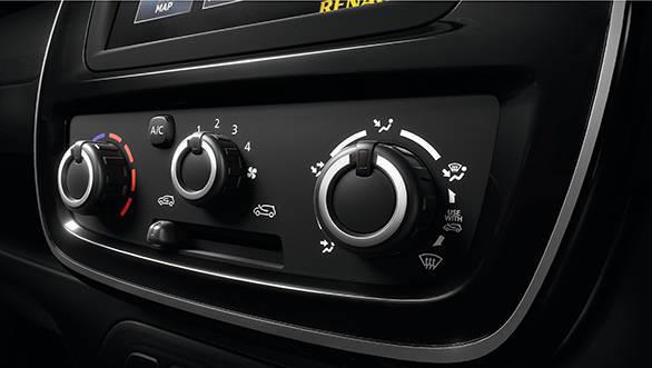 Renault KWID aircon controls