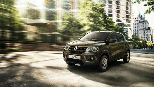 Renault KWID Front 3/4 action