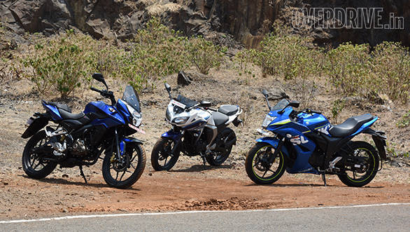 Yamaha Fazer Fi vs Suzuki Gixxer SF vs Bajaj Pulsar AS 150 (6)