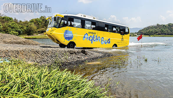 A ride in the AmphiCoach GTS-1 Aqua Bus