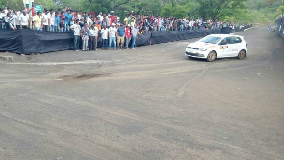 Arjun Rao Aroor is currently third overall in the rally, winning the first SSS at Nashik
