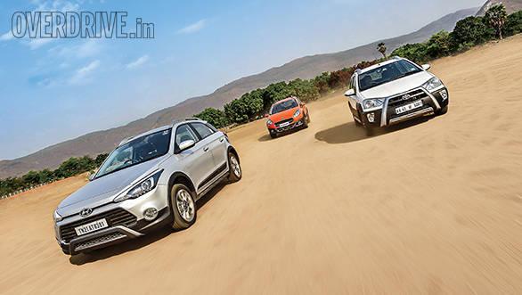 Hyundai i20 Active vs Fiat Avventurs vs Toyota Etios Cross (1)