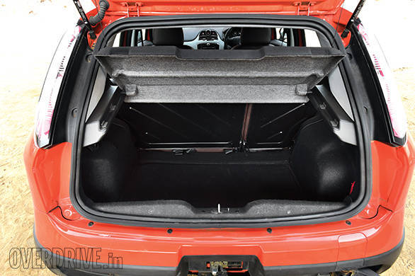 Spacious 280-litre boot but with large intrusions and tedious to use thanks to the externally mounted spare wheel