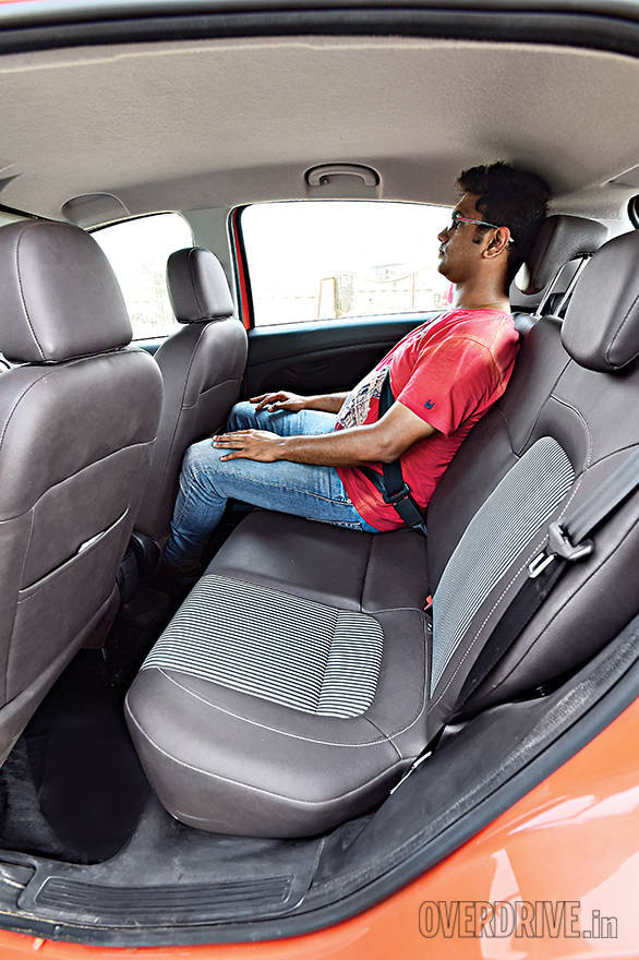 Rear space is the tightest in the Fiat