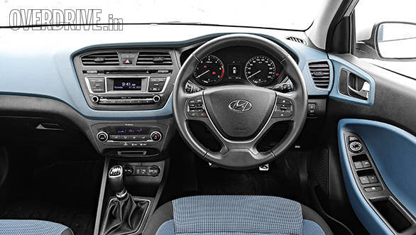 The i20 Active comes with either blue or orange themed interiors based on the exterior colour
