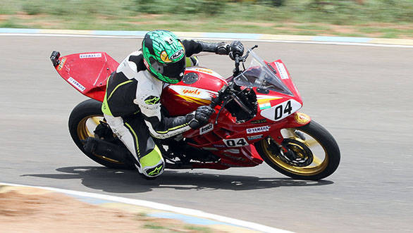 Vishwadev Muraleedharan of Sparks Racing who claimed a double in the Group D (165cc) Novice class