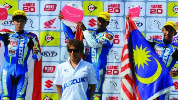 Jagan Kumar took a fine first place at the Sentul Round of the Suzuki Asian Challenge