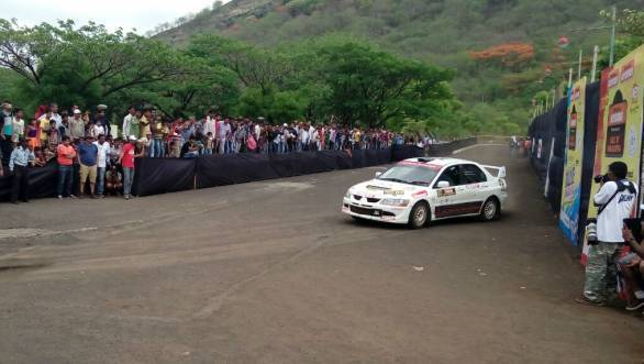 Lohitt Urs was the last of the Evos in the rally after Thapar's retirement