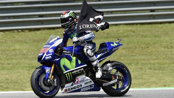 Victory at Mugello means Lorenzo is now just six points adrift of team-mate Valentino Rossi