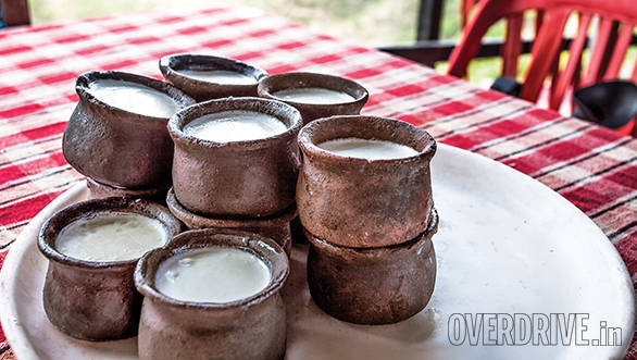 Fresh curd in clay pots is refreshing after a day in the sun