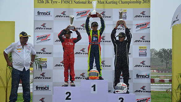 Winners in the Micro Max class_JK Tyre National Karting Championship