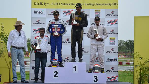 Vishnu Prasad wins first round of 12th JK Tyre National Karting Championship
