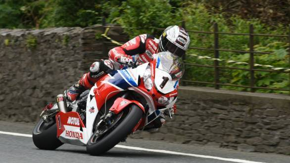 John McGuinness scored his 23rd TT win and his seventh win in the Senior TT at the 2015 Isle of Man TT races