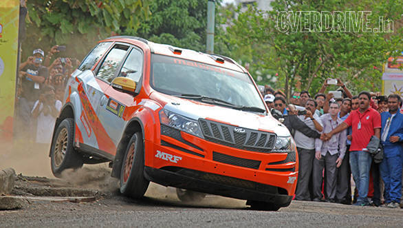 A shot of Gaurav Gill from the 2015 Rally of Maharashtra, which he won