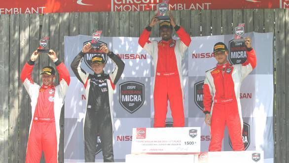 Double win for Abhinay Bikkani at the Nissan Micra Cup in Canada