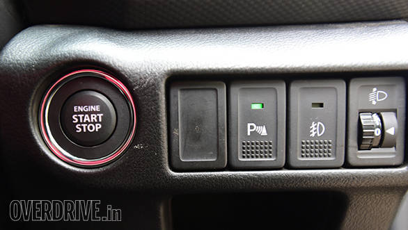 The row of switches to the right of the engine start stop button look outdated
