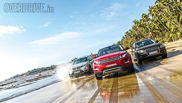 Range Rover Evoque SD4 Prestige vs Audi Q5 30 TDI Premium Plus vs BMW X3 xDrive20d Xline