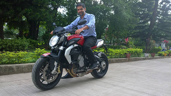 Ajinkya Firodia, MD - Kinetic World with the MV Agusta Brutale 800