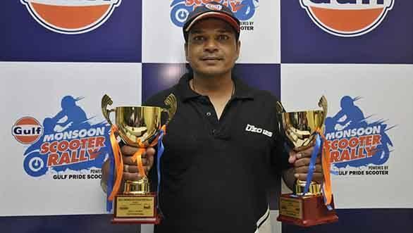 Gulf Monsoon Scooter Rally 2015 Winner, Shamim Khan (1)