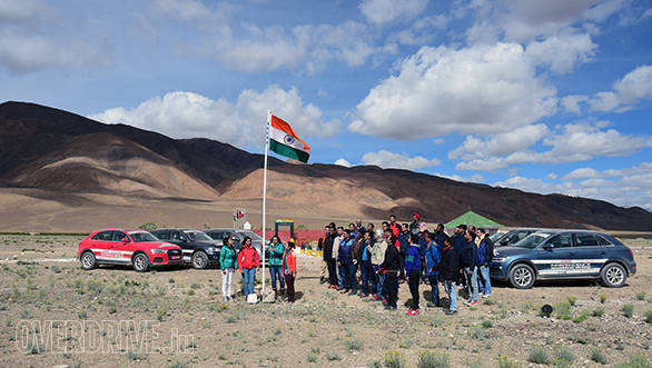 Team OD and the participants got to hoist the Indian national flag on August 15 at Rezangla