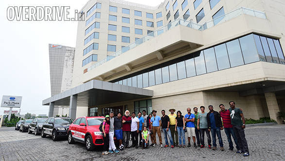 The participants before the start of the journey at the Park Plaza Hotel Zirakpur