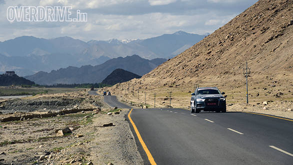 The roads leading to Pangong Lake were sometimes well surfaced and at times broken