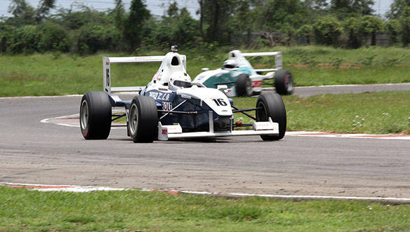 Karthik Tharanisingh, winner of the MRF Formula Ford 1600 championship in the MMSC-Fmsci Indian National Racing Championship which concluded in Chennai on Sunday