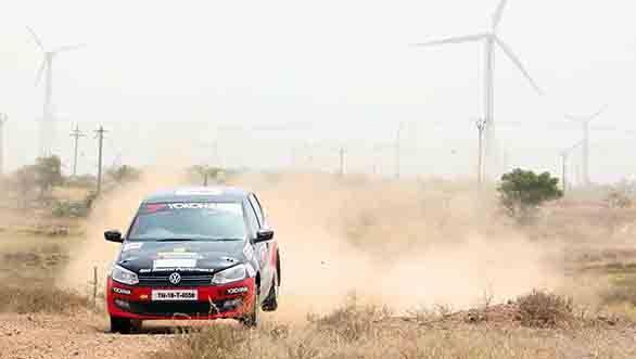 Karna Kadur and Vivek Ponnusamy winning VW Polo