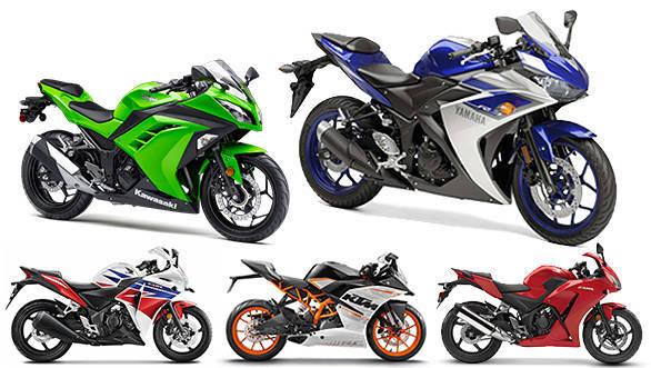 Spec comparison: Yamaha YZF-R3 vs Honda CBR300R vs Honda CBR250R vs
