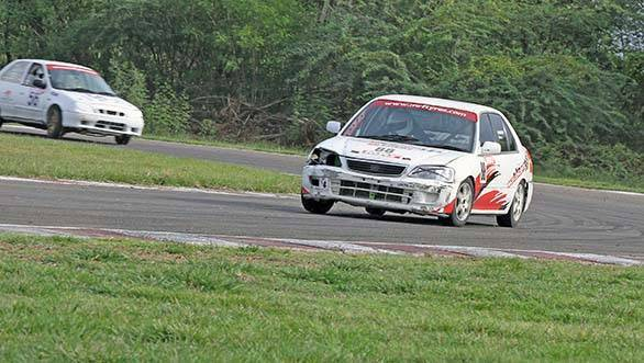 Varun Anekar of Race Concepts (No.88) powering his way through the corner while winning the Super Stock race