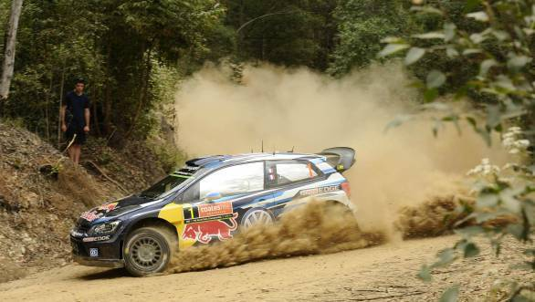 Ogier and Ingrassia on the dusty stages of the 2015 Coates Hire Rally Australia