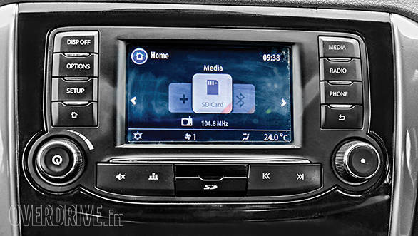 Harman touchscreen system is excellent to use and connects to the phone faster than any system we've experienced