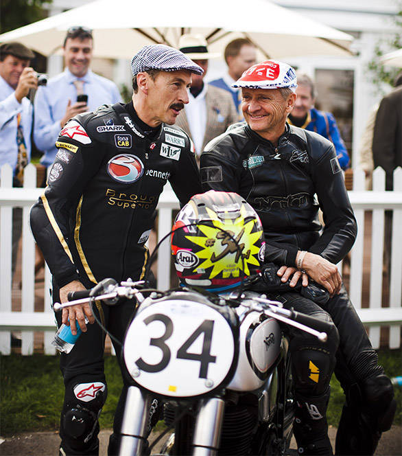 Kevin Schwantz and Jeremy McWilliams