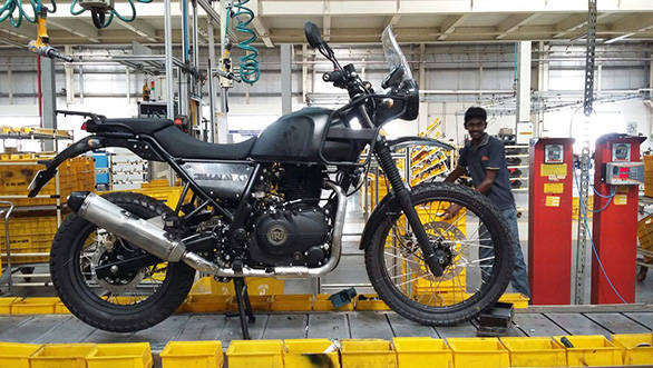 Spied: Royal Enfield Himalayan on the assembly line