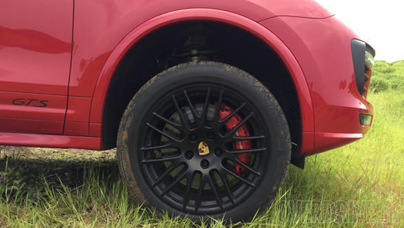 If specced with the optional air suspension, the Cayenne GTS can be raised or lowered