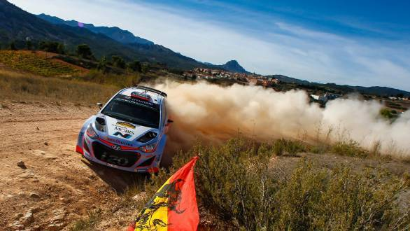 Dani Sordo took Hyundai to the podium, behind the two Volkswagen Polos that did finish