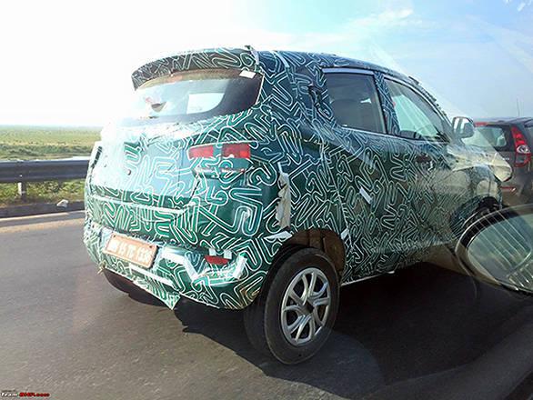 Mahindra S101-XUV100 Spied_Inside Post