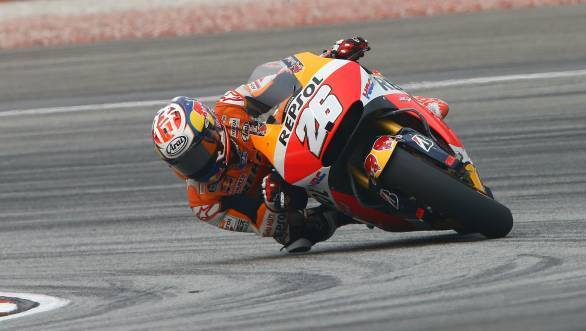 Dani Pedrosa shattered the lap record at Sepang and took pole too!