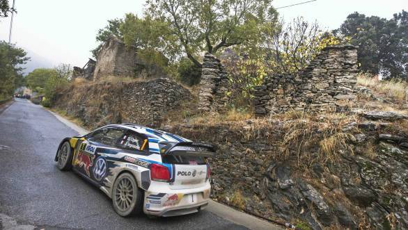 Sebastian Ogier's Polo WRC suffered gearbox issues, which meant the reigning world champion wasn't in the running for victory