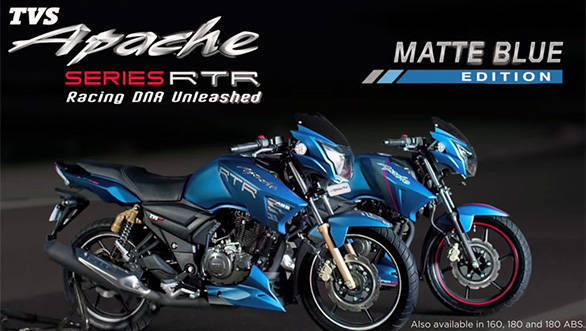 TVS Apache RTR matte blue edition launched in India