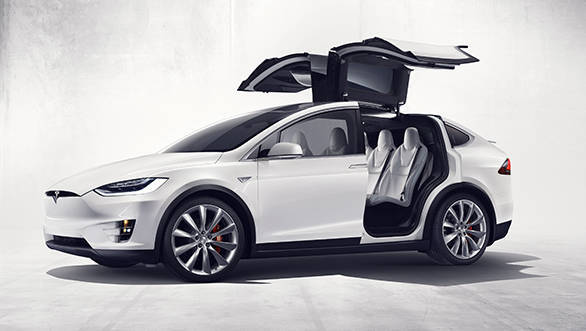 Both the Model X pictured above and the Model S feature Tesla's Autopilot beta technology