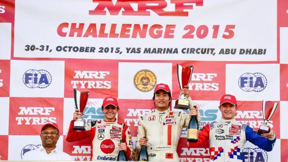 Arun Mammen, MD MRF Tyres with Pietro Fittipaldi, Nobuharu Matsushita and Jake Dennis