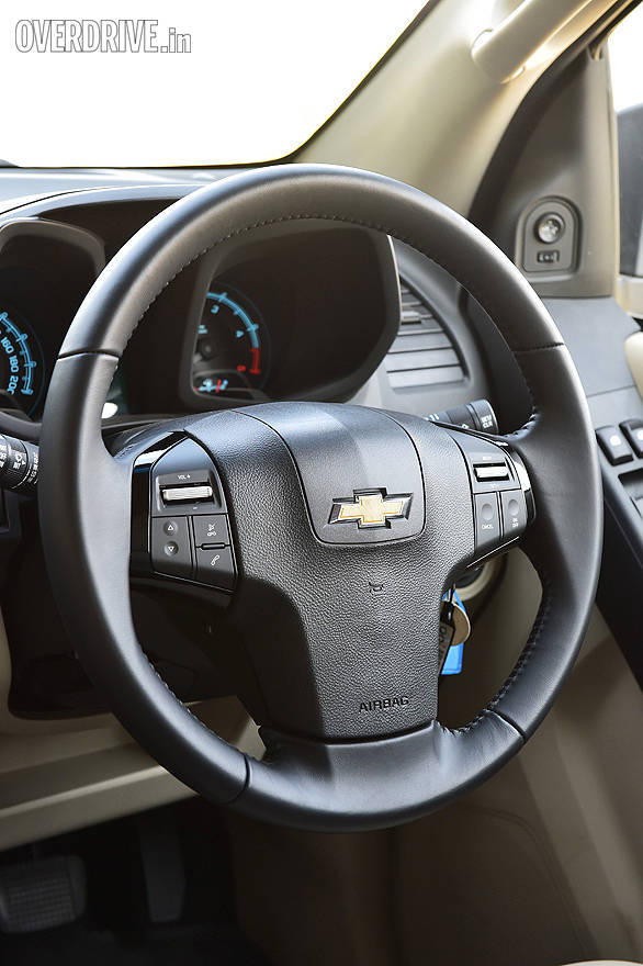 The Trailblazer gets leather wrapped steering wheel