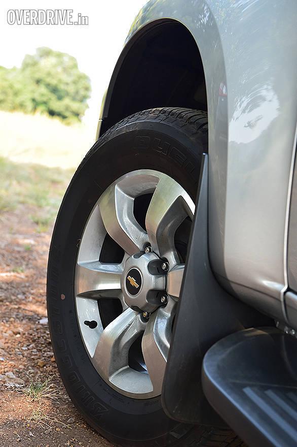 The Chevrolet Trailblazer gets 265/60 R18 tyres